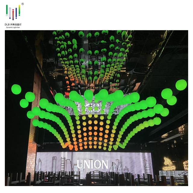 Wholesale Led Lift Ball OEM Motorized Led Ball Dmx Winch Kinetic Lighting Kinetic Lights Winch Price Featured Image