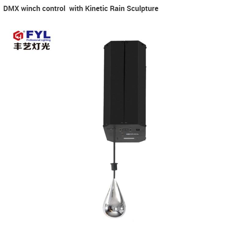 Kinetic rain sculptures